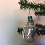 Oude flinke kerstman in zilver 1970-1980