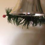 Oude antieke kerstklok van dun geblazen glas in zilver 1e kwart 1900 (ro)