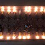 Vintage snoer met 16 echte kaars lampjes