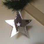 Oude ster van spiegelglas voor in de kerstboom 2e helft 1900