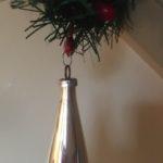 Oude antieke kerstbal pegel van dun geblazen glas 1e helft 1900 (growi)