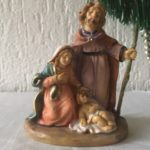 Oude antieke retro mini kerststal van early plastic jaren 1950-1960
