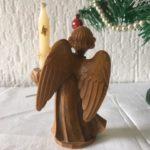 """Lieflijke engel met kaarsje van kunststof gemerkt """"Germany"""" jaren 1970"""