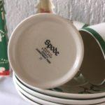 Spode England Christmas Tree 8 espresso Kerst kop en schotels