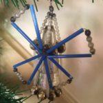 Oude antieke kerstbal een molen uit Gablonz 2e kwart vorige eeuw