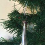 Oude antieke kerstbal een luit in zilver van dun geblazen glas 1e kwart 1900