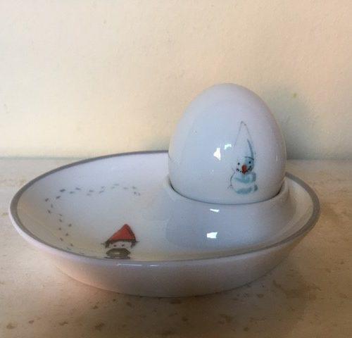 Kerstkabouter eierdop setje met zoutvat