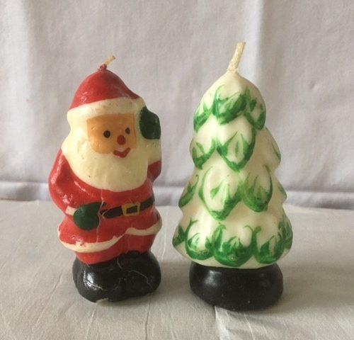 Gurley kaars in de vorm van een Kerstboom of dennenboom jaren 1950-1960