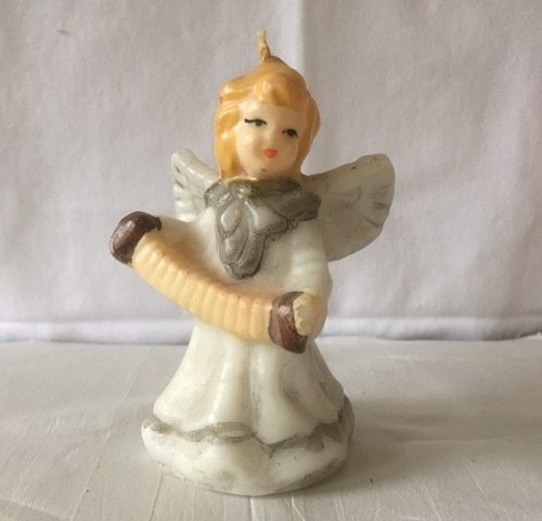 Gurley Kerstkaars een engel met trek harmonica jaren 1950-1960